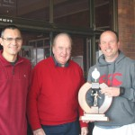 Blaar Coetzee (NMSA Chairman) & Mike Pierce (NSF President) with Craig Ruane, winner 35-39.