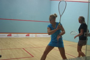 Charlotta Loggenberg against Shanel Potgieter in the girls u19 final.