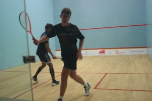 Blaine Verhage against Mikael Clayton in the boys u19 final.
