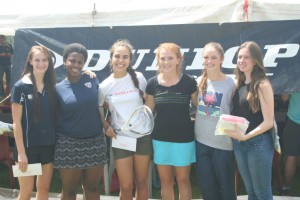 Helena Coetzee (3rd from left), 3rd place Gu19.