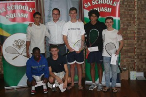 Boys u19: Blaine Verhage and Mikael Clayton (3rd and 4th from left back)